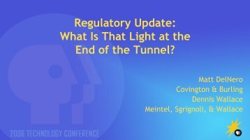 Regulatory Update: What Is That Light at the End of the Tunnel? - PBS