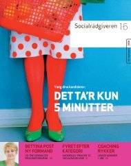 Socialrådgiveren nr. 16-2008 - Dansk Socialrådgiverforening