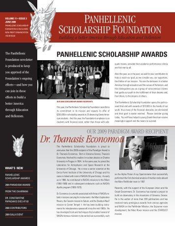 June 2009 Newsletter - PanHellenic Scholarship Foundation
