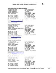 Indiana Public Library Directory (Revised 06/28/2012) Page 1