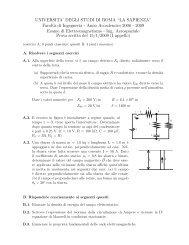 Prova d'esame del 1 gennaio 2009 - Sapienza