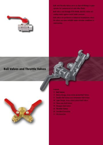 Ball Valves and Throttle Valves