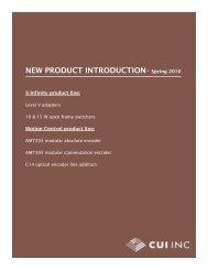 CUI-NEW-Products-Spri - Electro Mark Inc