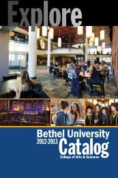 2012-2013 Catalog (pdf) - College of Arts & Sciences - Bethel ...