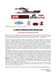 1^ PROVA CAMPIONATO DEL MONDO 2008