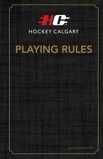 hockey playing rules