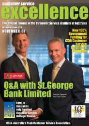 Q&A with St.George Bank Limited - Customer Service Institute of ...