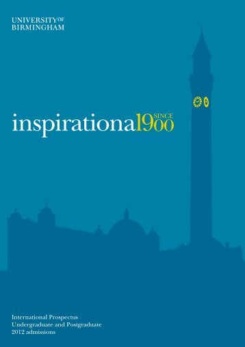 inspirational900 - University of Birmingham