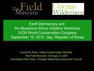 Earth Democracy and the Biosphere Ethics Initiative Workshop IUCN ...