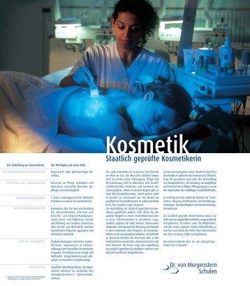 Informationsmappe zu Kosmetik - Dr. von Morgenstern Schulen