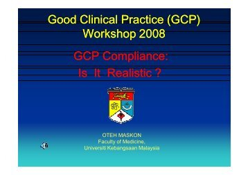 GCP - UKM Medical Centre - Universiti Kebangsaan Malaysia