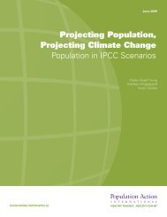 Projecting Population, Projecting Climate Change Population in ...