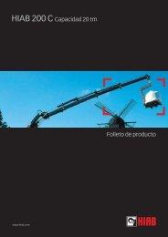 HIAB 200 C Capacidad 20 tm Folleto de producto - Lectura SPECS