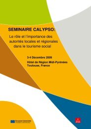 SEMINAIRE CALYPSO: - European Network for Accessible Tourism