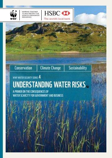 UNDERSTANDING WATER RISKS - WWF UK