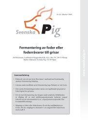 Fermentering av foder eller foderråvaror till grisar - Svenska Pig