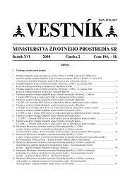Vestník (pdf, 1 589 kB) - Ministerstvo životného prostredia