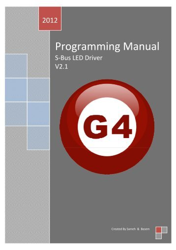 LED Driver Programming Manual v.2.1 - Smart-Bus Home Automation