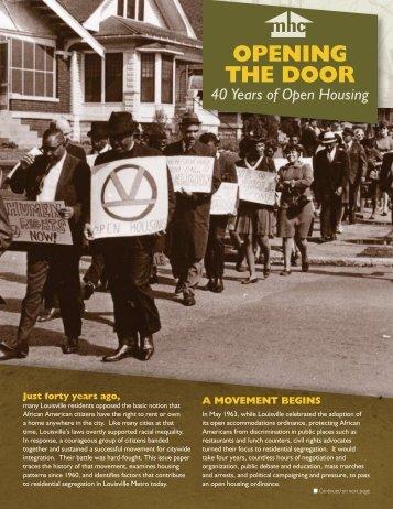 Opening the DOOr - Metropolitan Housing Coalition