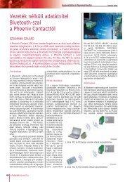 Vezeték nélküli adatátvitel Bluetooth-szal a Phoenix Contacttól