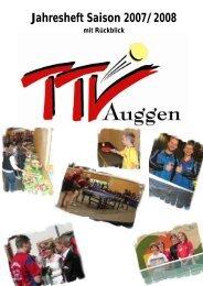 Jahresheft Saison 2007/2008 - TTV Auggen