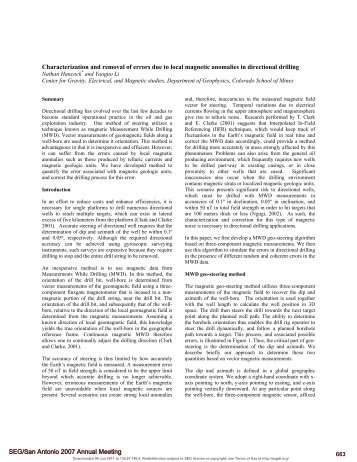 Characterization and removal of errors due to local magnetic ...