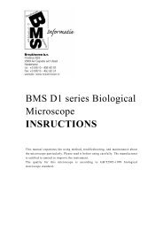 BMS D1 series Biological Microscope INSRUCTIONS - BMS and ...
