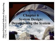 Chapter 6 System Design: Decomposing the System