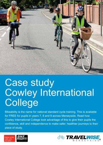 Case study Cowley International College - BikeRight!