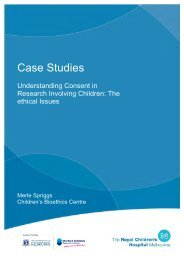 Case Studies - Murdoch Childrens Research Institute