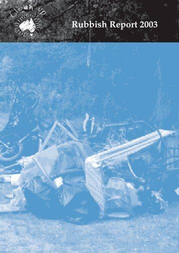 Rubbish Report 03 - Clean Up Australia