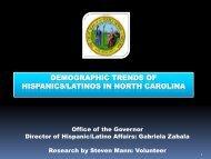 demographic trends of hispanics/latinos in north carolina