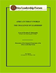 AFRICA IN TODAY'S WORLD THE CHALLENGE OF LEADERSHIP