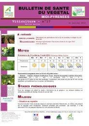bulletin de sante du vegetal - Chambre régionale d'agriculture Midi ...