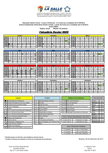 (Calend\341rio Escolar 2012.xls) - La Salle
