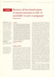 Revision of Classification of mental disorders in ICD-11 and DSM-V