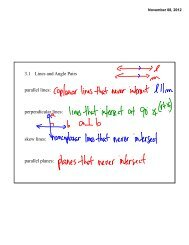 3.1 Lines and Angle Pairs parallel lines: perpendicular lines: skew ...