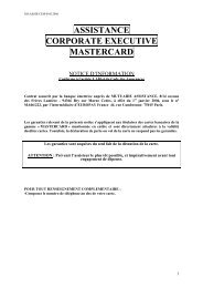 Assistance Corporate Executive MasterCard - CIC