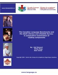 A Comparative Examination of Reading Components - Canadian ...