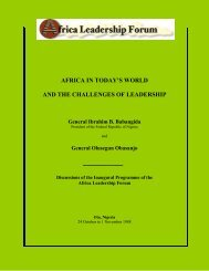 africa in today's world and the challenges of leadership