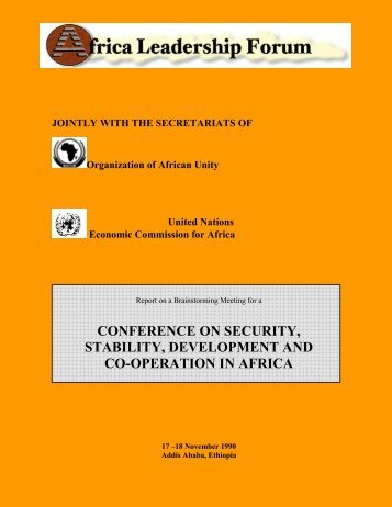 Report on a Brainstorming Conference on Security, Stability ...