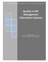 Quality in PHC Management Information Systems - Africa ...