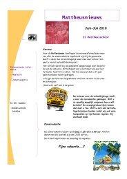 Nieuwsbrief juni/juli 2010 - St. Mattheusschool