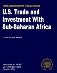 U.S. Trade and Investment With Sub-Saharan Africa: Fourth ... - USITC
