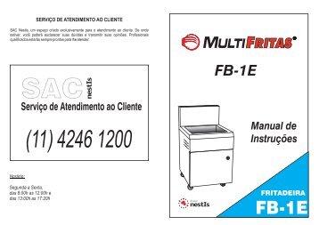 Baixe o manual em PDF: Fritadeira Comercial Elétrica - Grupo NestIs