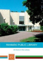 RIIHIMÄKI PUBLIC LIBRARY