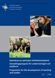 5. Programme for the development of teaching and studies 2007-2009