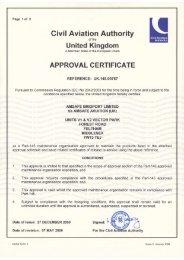 CAA Cert UK 145 00767 - AmSafe