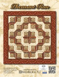Pheasant Run Bed Quilt - Henry Glass & Co
