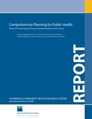 Comprehensive Planning for Public Health - American Planning ...